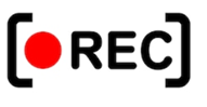 Record symbol and REC text in backets