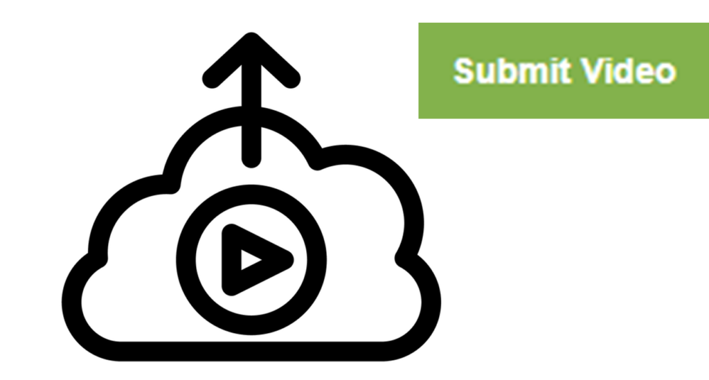 download cloud icon with play button and submit video button